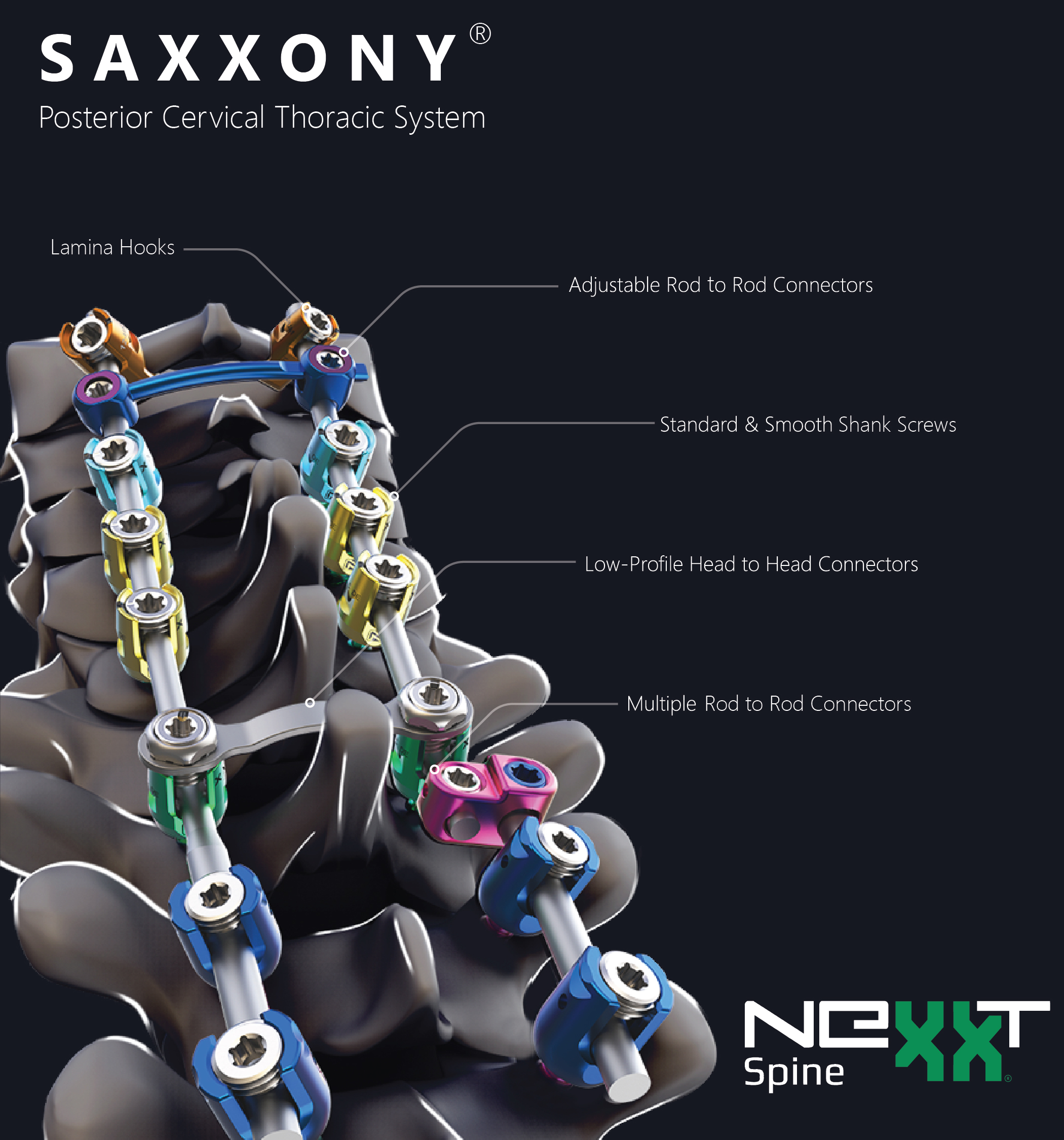 Nexxt Spine Launches Saxxony Posterior Cervical Thoracic Spine