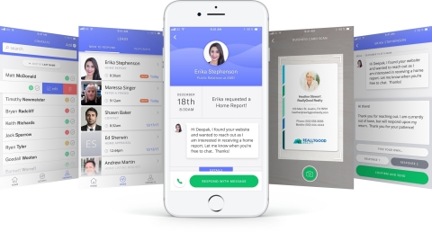 The OutboundEngine mobile app makes it simple for small business owners to easily add new contacts to their databases and to quickly follow up with clients and prospects via text or email natively in the app. (Photo: Business Wire)