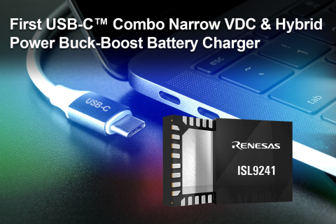 First USB-C™ Combo Narrow VDC & Hybrid Power Buck-Boost Battery Charger (Graphic: Business Wire)
