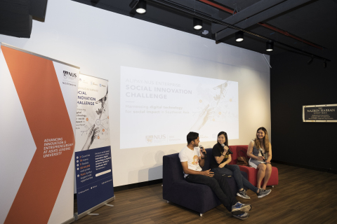 "Panel discussion: ""Running a Sustainable & Scalable Social Enterprise in Malaysia."" (Photo: Business Wire)"