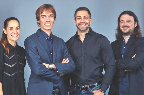 El equipo fundador de Neo Capital Markets SV, SA: Nuria Molet, Laurent Descout, Emmanuel Anton y Ian ...