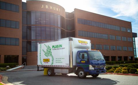 J.B. Hunt has added five FUSO eCanter all-electric medium-duty box trucks to its private fleet, the ...