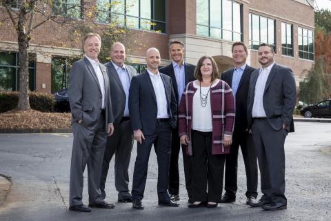 US Premium Finance Team (l-r): John Lippincott, Matt Essary, Scott Mitchell, Curren Coco, Tiffany Pe ...
