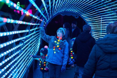 GES Events has partnered with Elmwood Park Zoo to transform its historic venue into a stunning winter wonderland for the holiday season. (Photo: Business Wire)