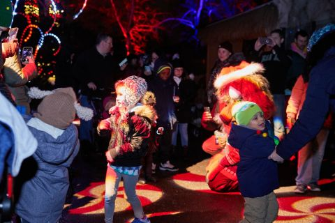 Visitors to the Elmwood Park Zoo's Wild Lights are delighted to journey down Candy Cane Lane. (Photo: Business Wire)