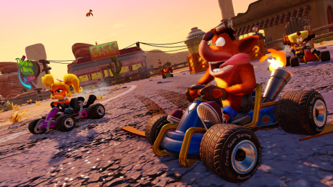 In Crash™ Team Racing Nitro-Fueled the stakes are high and the competition is fierce as players race with a variety of Crash Bandicoot series characters, including Crash, Coco, Dr. Neo Cortex and others to save our planet from destruction. Launching on June 21, 2019 and available for pre-order starting today, the game has been fully remastered in stunning HD. (Photo: Business Wire)