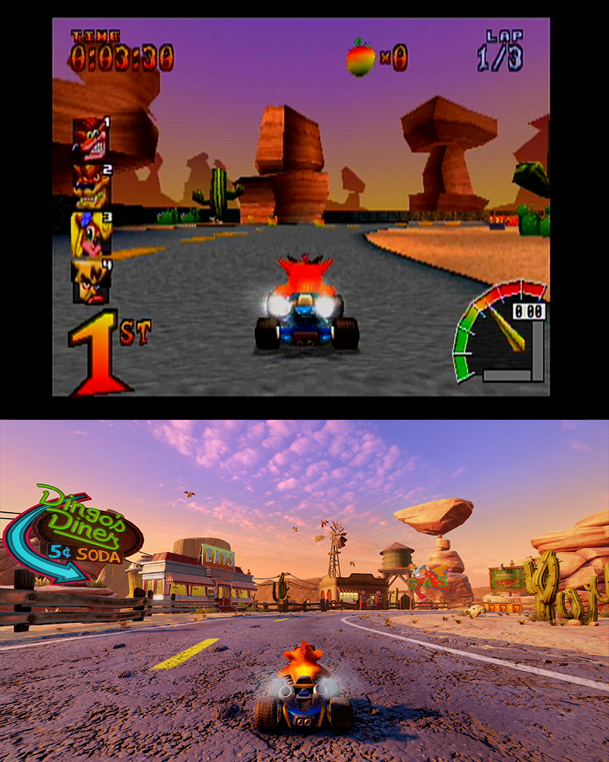 crash team racing nitro fueled oxide edition difference