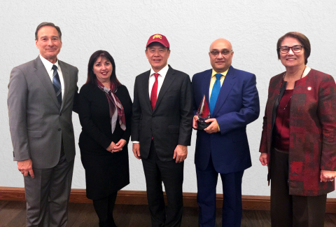 USC Rossier School of Education announced an Honorary Award to CTBC Bank USA. From left to right, US ...