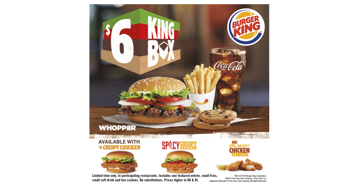 BURGER KING® Restaurants Introduce the $6 King Box