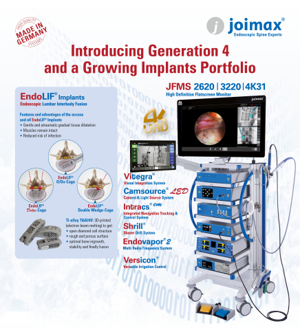 joimax® Generation 4 and Implants Product Portfolio (Graphic: Business Wire)