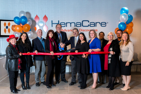 HemaCare President & CEO Pete van der Wal, senior executives and Steven Gerber, Chairman of the Boar ...