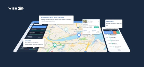 Wise Systems' autonomous dispatch and routing software uses machine learning to transform delivery operations for delivery fleets across industries from food and beverage to passenger transportation. (Photo: Business Wire)