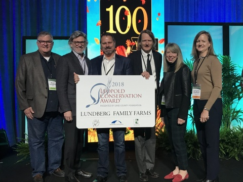 Pictured Bryce Lundberg, Tim Schultz, Mike Denny, Grant Lundberg, Jill Lundberg, and Julianne Stafford (Photo: Business Wire)