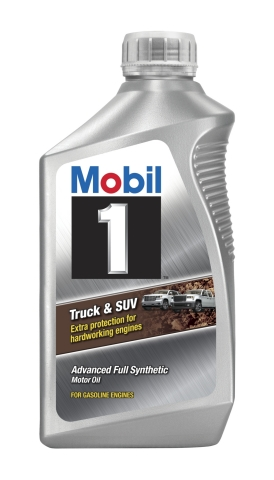 Mobil 1(TM) Truck & SUV will be available in 0W-20, 5W-20 and 5W-30 viscosities. Coming in both one and five quart bottles, the new motor oil will be available for purchase in retail locations in early 2019. (Photo: Business Wire)