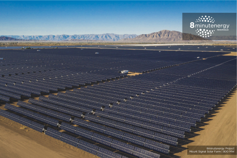 8minutenergy and Capital Dynamics celebrated the completion of the 328 MW Mount Signal 3 Solar Farm, ...