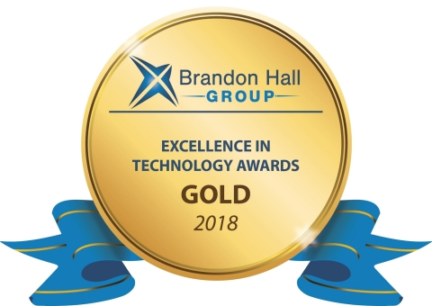 Allego Wins Gold for Best Advance in Sales Training Online Application from Brandon Hall Group (Graphic: Business Wire)
