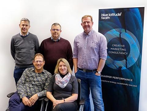 Dominic Miller, Fred Bassett, Oliver Dennis (back row from left to right), Martin Brass, Gail Flockhart (front row from left to right). (Photo: Business Wire)