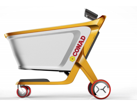 The Tracxpoint AiC enables checkout-free stores and personalized in-store engagement for Italy's largest supermarket chain, CONAD. (Photo: Business Wire)