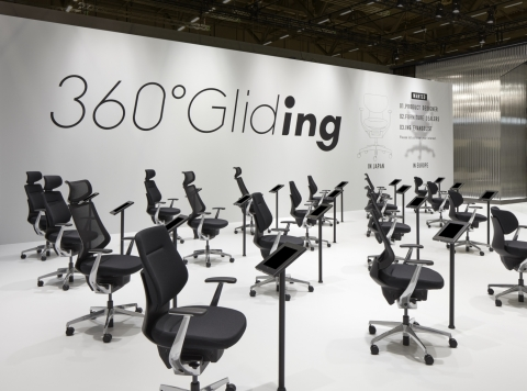 """KOKUYO's exhibition to experience """"Gliding in 360°"""" (Photo: Business Wire)"""