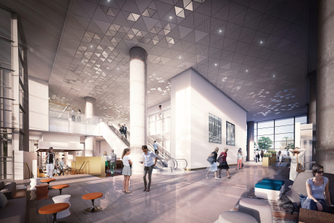 Rendering of the property's lobby (Image credit: LMN Architects)