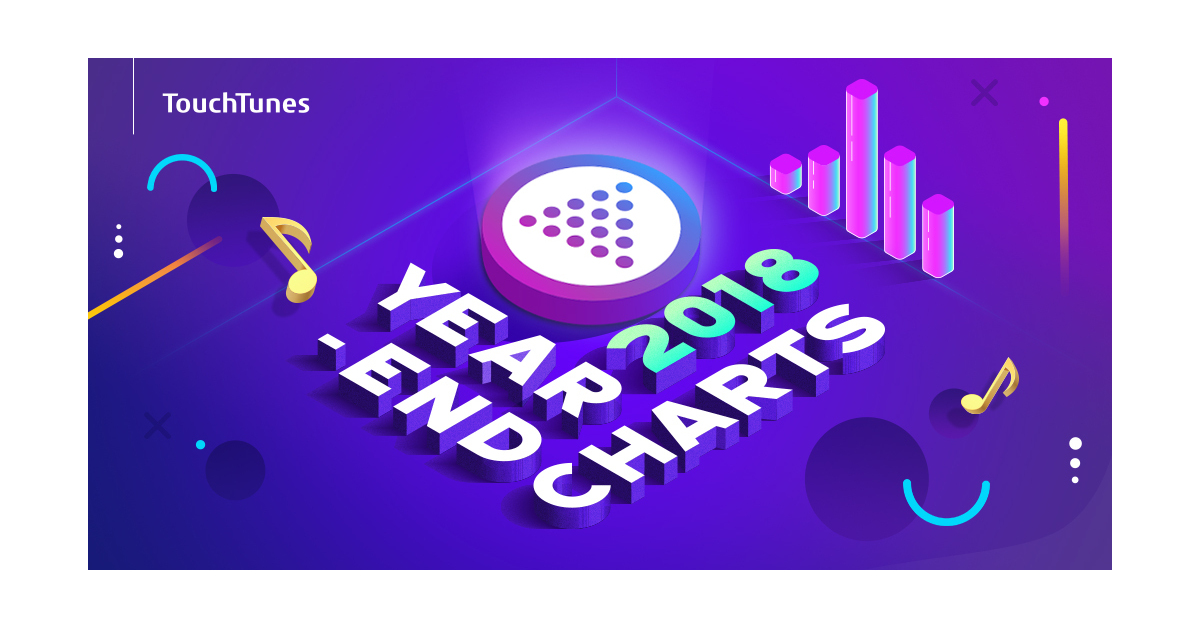 TouchTunes Announces 2018's Top Jukebox Artist and Song Charts
