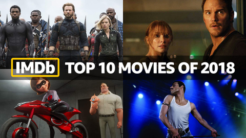 IMDb Top Movies of 2018, as determined by page views. IMDb is the #1 movie website in the world. (Photo courtesy of IMDb)