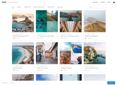 The Content in Motion platform helps brands easily transform existing imagery and videos into high-i ...