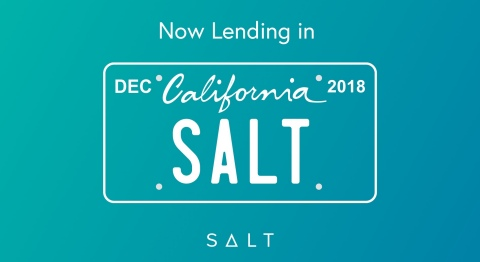 SALT is now lending in California (Graphic: Business Wire)