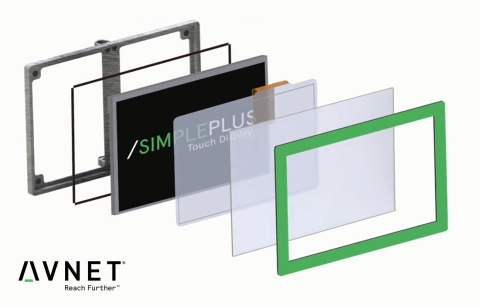 Avnet's SimplePlus is a custom touch display platform that gives customers the power to customize the user experience and reduce development time and cost. (Photo: Business Wire)