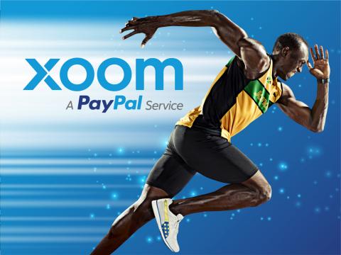 Usain Bolt, Xoom global brand ambassador. (Graphic: Business Wire)