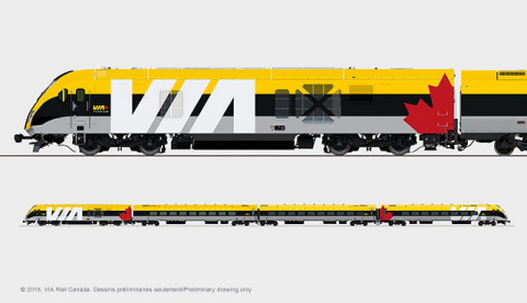 VIA Rail Canada - Preliminary Drawing Only (Photo: Business Wire)