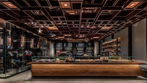 Inside the Starbucks Reserve Roastery New York customers can find freshly baked artisanal food from boutique Milanese Princi bakery. (Photo: Matthew Glac Photography)