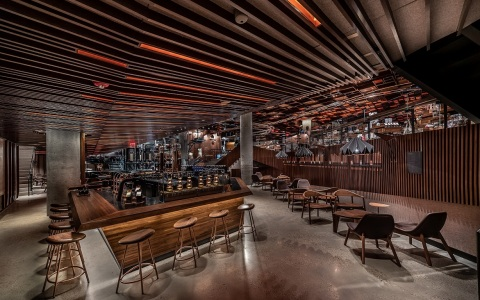 The immersive, 23,000-square-foot coffee experience celebrates the heritage of roasting and the craft of coffee. (Photo: Matthew Glac Photography)
