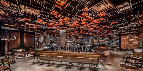 The Starbucks Reserve Roastery New York features multiple coffee bars, brewing methods, and a unique menu of Starbucks Reserve coffee and Teavana Tea in a thoughtfully-designed interior. (Photo: Matthew Glac Photography)