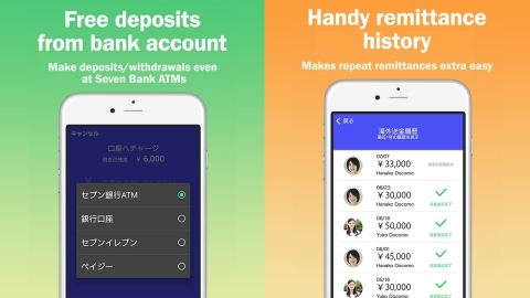 docomo Money Transfer app image (Graphic: Business Wire)