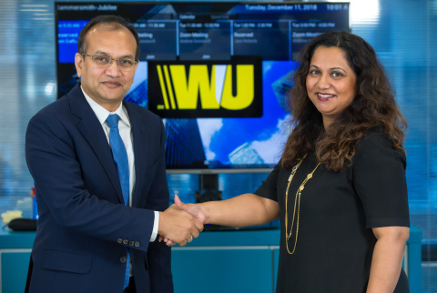 TerraPay CEO Ambar Sur and Head of Account Payout Network for Western Union Sobia Rahman (Photo: Business Wire)