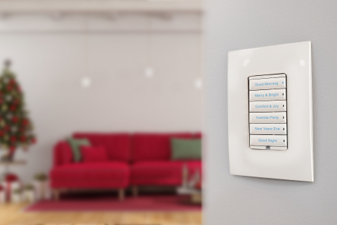 Configurable Control4 keypads can set lighting scenes with one button press. (Photo: Business Wire)