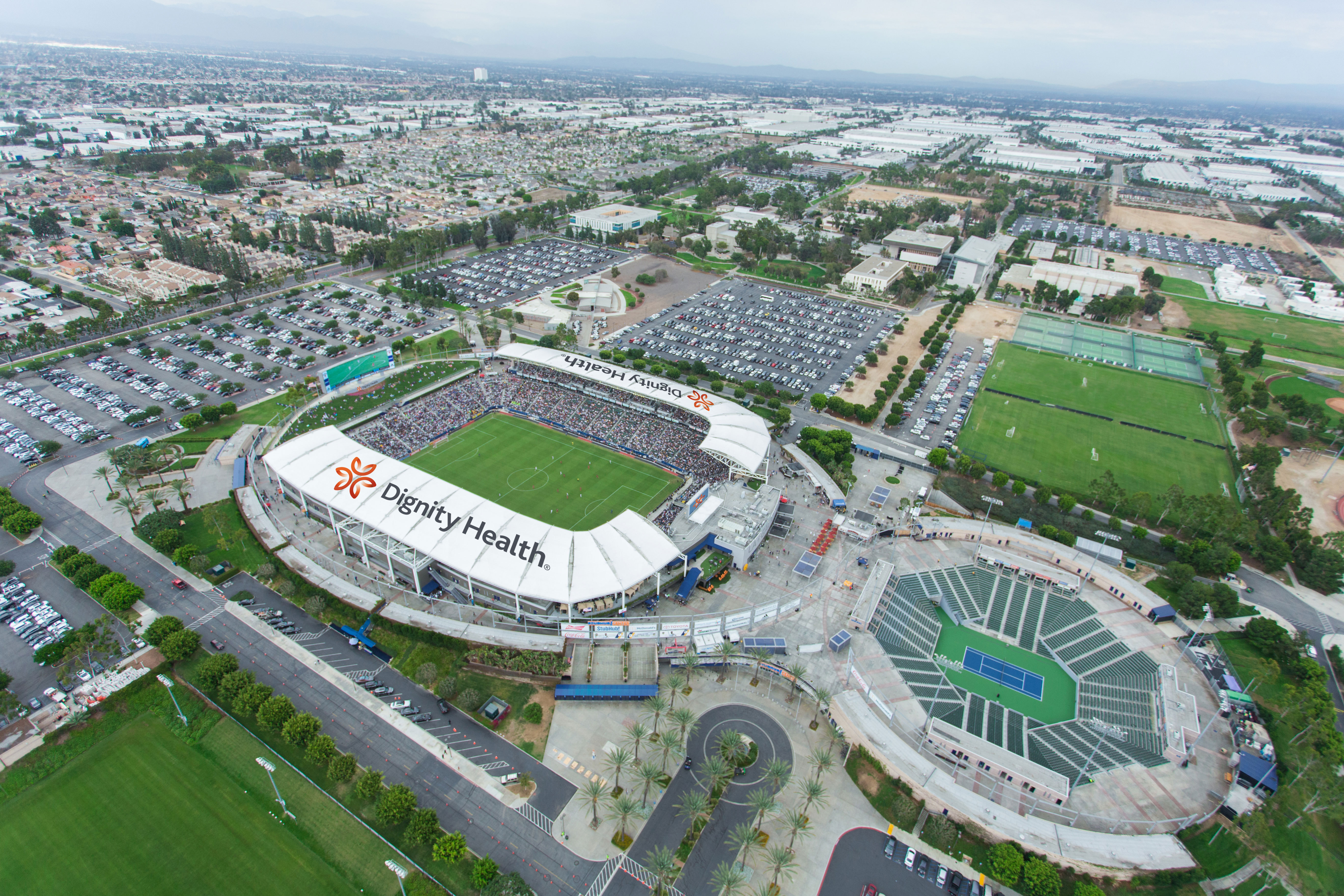Aeg Announces New Partnership With Dignity Health Renames La Galaxy Home Stadium Dignity Health Sports Park Business Wire