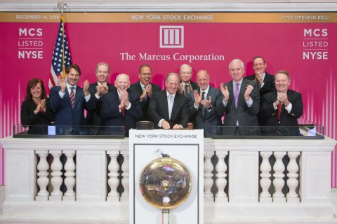 Pictured on the NYSE podium are: (left to right) Kim M. Lueck, chief information officer; David M. B ...