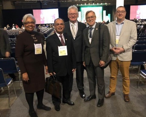 "AURAK delegation during the SACSCOC conference in New Orleans"" (Photo: AETOSWire)"