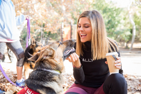 Rally Health Ambassador Maria Menounos hosts dog walk with Rally and Westside German Shepherd Rescue on Sunday, Dec. 16 at Griffith Park in Los Angeles. (Photo: Rally Health)