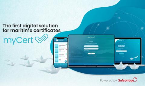 myCert – the first digital solution for maritime certificates (Photo: Safebridge)