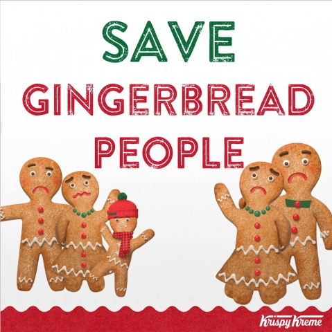 This year, instead of getting your fix of scrumptious gingerbread goodness by devouring gingerbread people, run to Krispy Kreme Doughnuts. Beginning Wednesday, Dec. 19 and through Christmas Eve, Dec. 24, Krispy Kreme is offering its popular Gingerbread Glazed Doughnut – a perfectly spiced gingerbread dough with hints of cinnamon, covered in a warm gingerbread molasses glaze. (Photo: Business Wire)