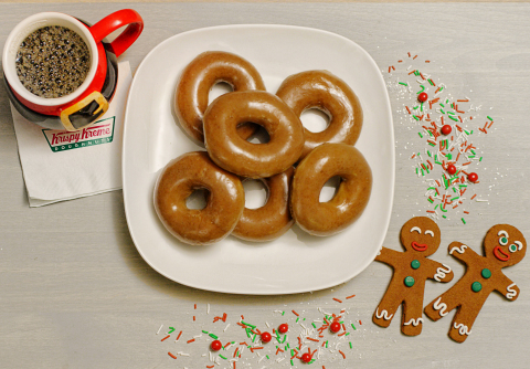 Beginning Wednesday, Dec. 19 and through Christmas Eve, Dec. 24, Krispy Kreme is offering its popular Gingerbread Glazed Doughnut – a perfectly spiced gingerbread dough with hints of cinnamon, covered in a warm gingerbread molasses glaze. (Photo: Business Wire)