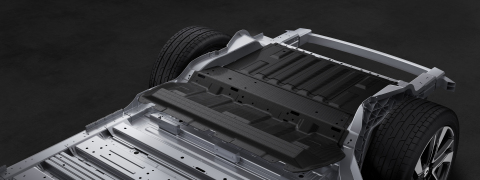 Aluminum alloy and carbon fiber compose the vehicle body (Graphic: Business Wire)