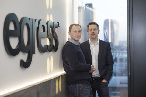 Egress Software's CEO and CTO, Tony Pepper and Neil Larkins (Photo: Business Wire)