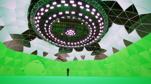 Intel Studios' 10,000-square-foot geodesic dome in Los Angeles is the world's largest immersive medi ...