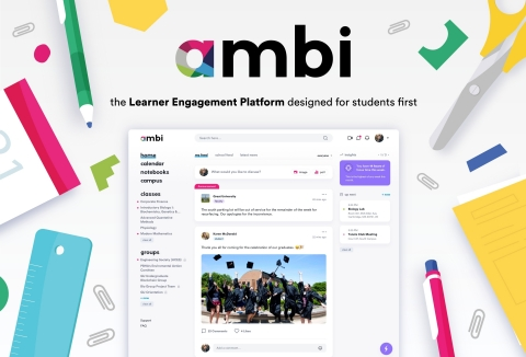 By creating a Learner Engagement Platform designed for students first, ambi's mission is to empower all students to be more engaged, involved, and successful on campus and beyond. (Graphic: Business Wire)