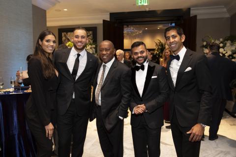 Charlise & George Springer (Houston Astros), Houston Mayor Sylvester Turner, Swapnil Agarwal (CEO - Nitya Capital), Vivek Shah (Principal - Nitya Capital) (Photo: Business Wire)