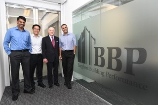 Pictured above from left to right: CV Kumar (COO, BBP), Ong En-Ping (CFO, BBP), Henry Kravis (Co-CEO, KKR), Poyan Rajamand (CEO, BBP) (Photo: Business Wire)